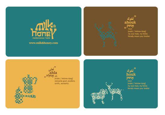 milk mediterranean hotels by Meital Nakibly - Rettig, via Behance
