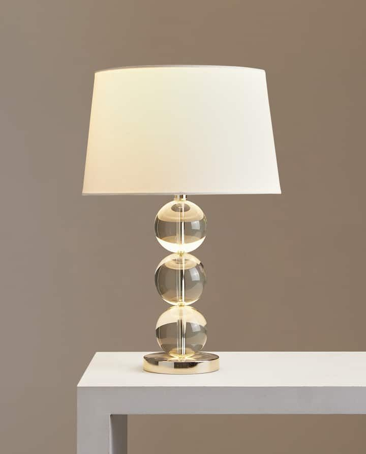 Image of the product THREE GLASS SPHERES LAMP   Zara home ...