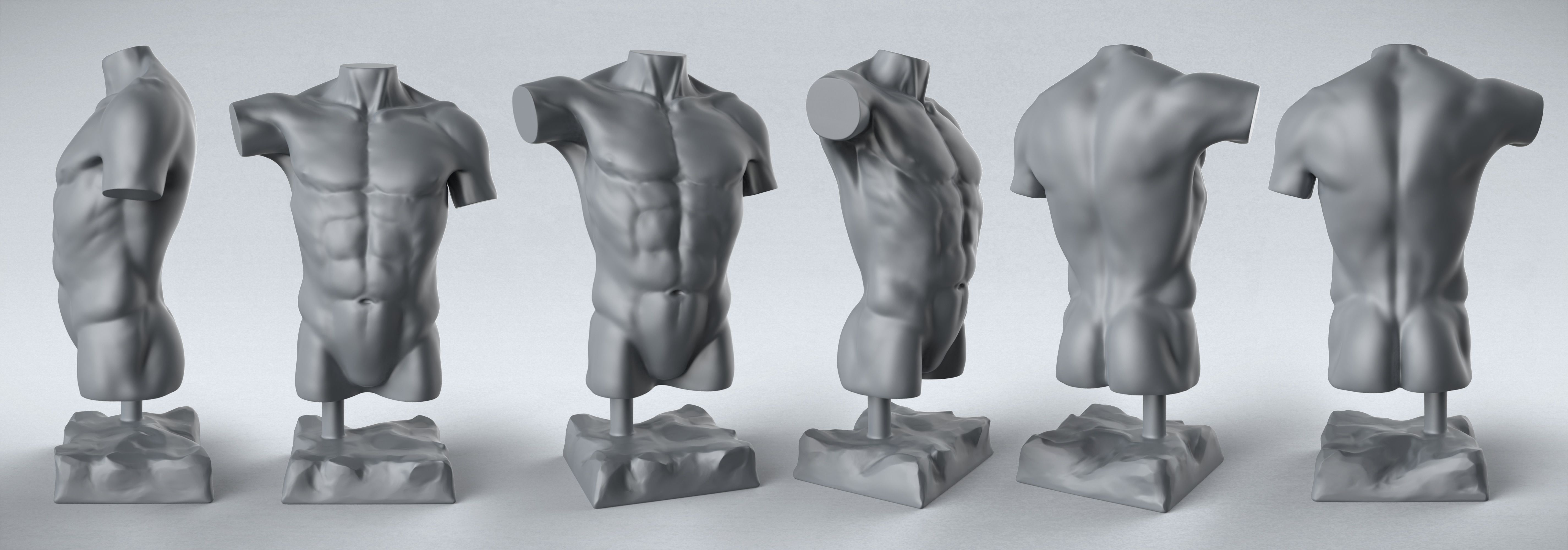 Male Torso Artistic Renderings Pinterest Male Torso Anatomy