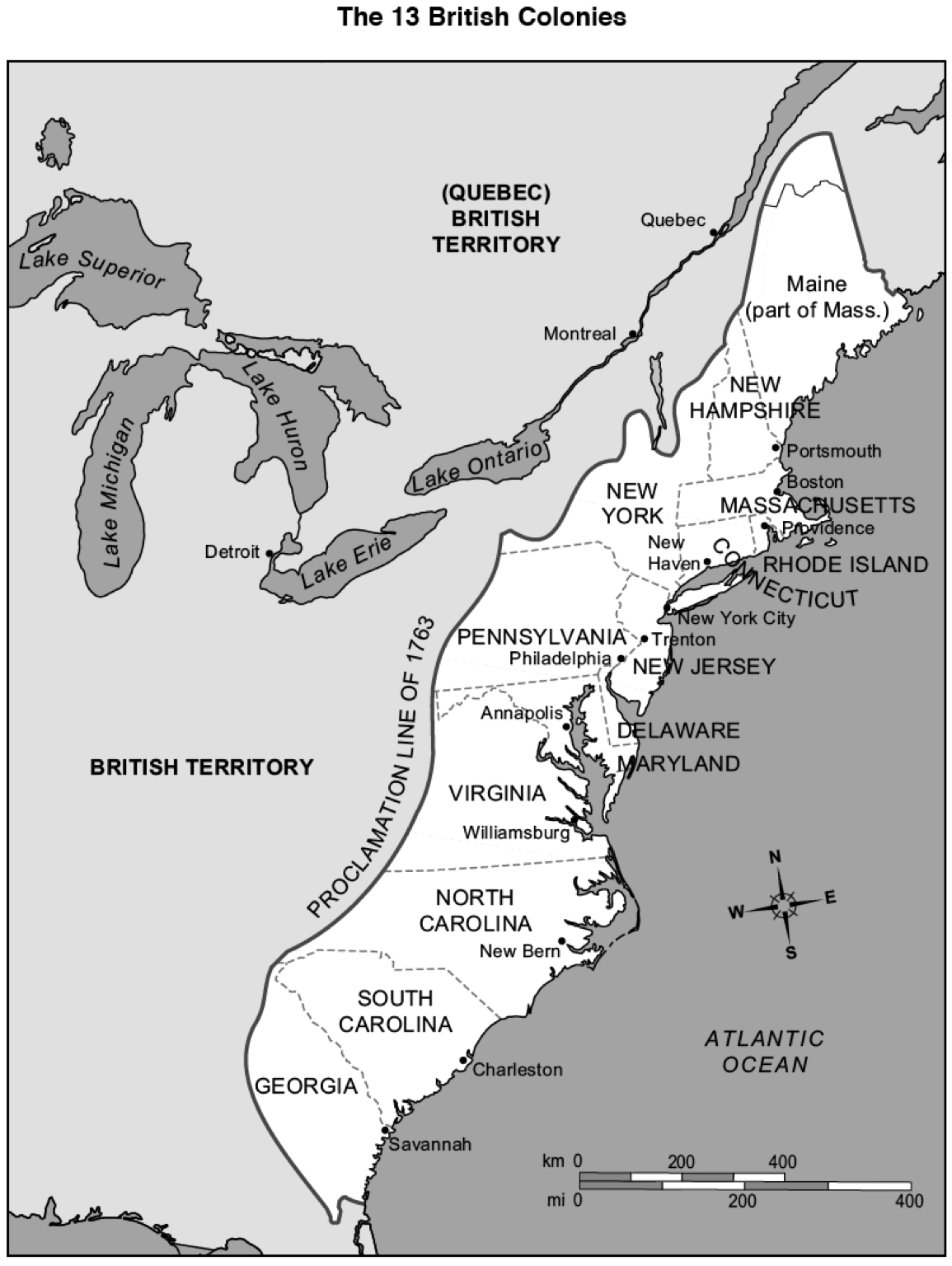 13 colonies map - Google Search   13 colonies map [ 1536 x 1155 Pixel ]