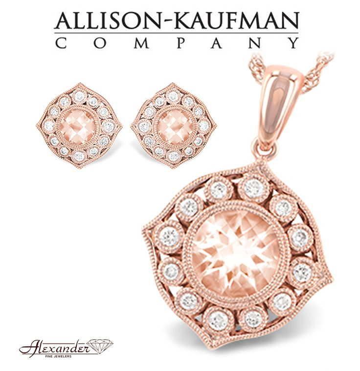 Jewelry from the Rose Gold Morganite Collection by Allison Kaufman