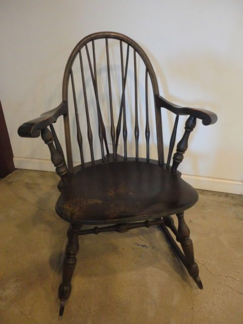 Nichols Stone Co Antique Windsor Rocking Chair | eBay - Nichols & Stone Co, Antique Windsor Rocking Chair Furniture