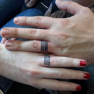 Do your wedding date in Roman numerals. | Wedding ring tattoos, Ring ...