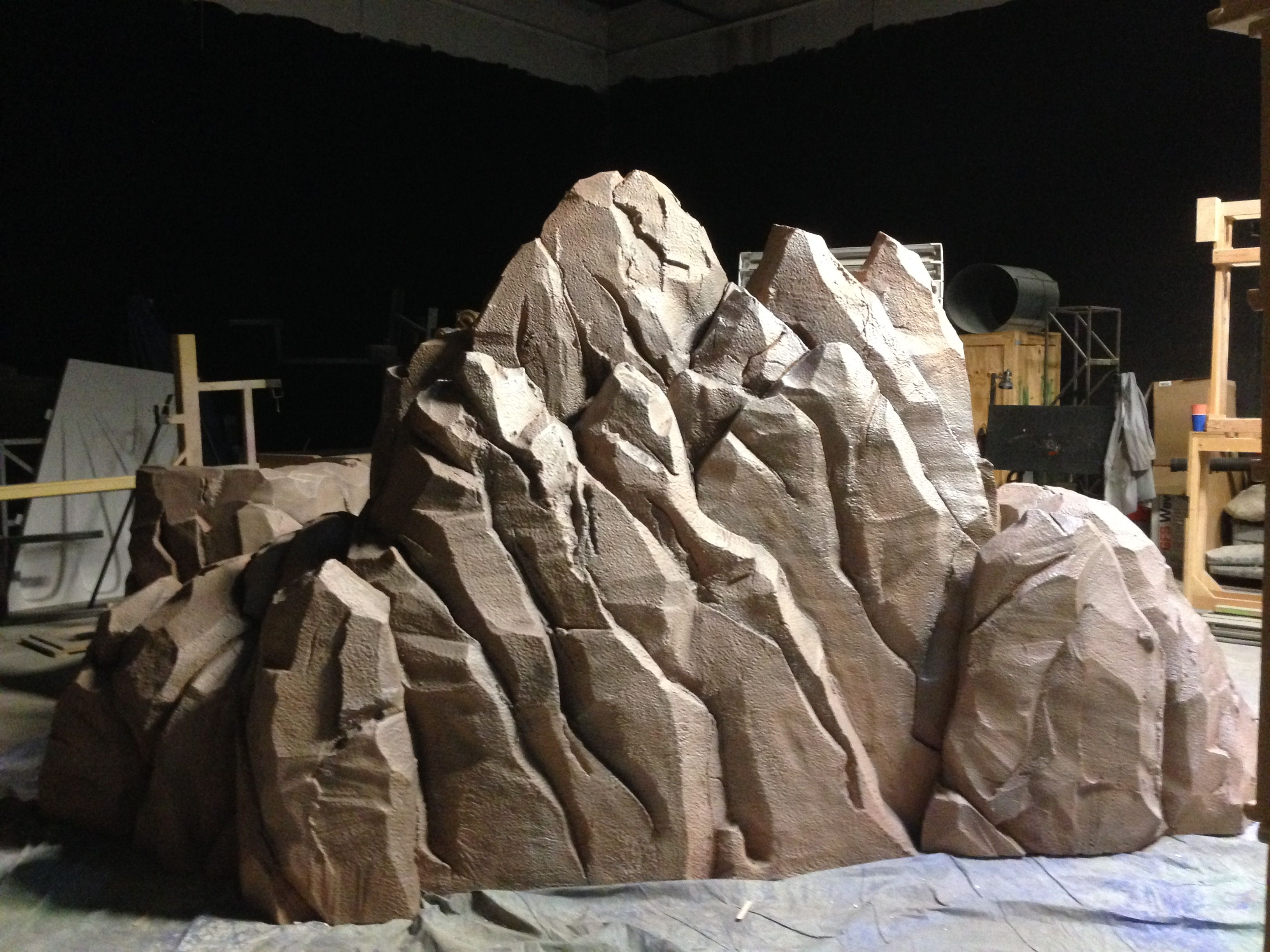 Custom themed environment design and fabrication by chisel for Waterfall set design