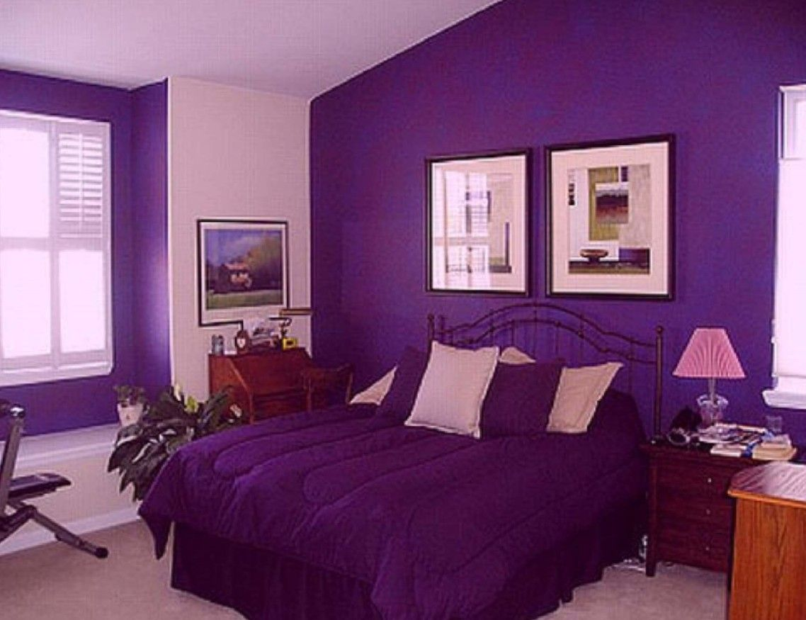 Mesmerizing Purple Wall Paint Ideas With Purple White Color