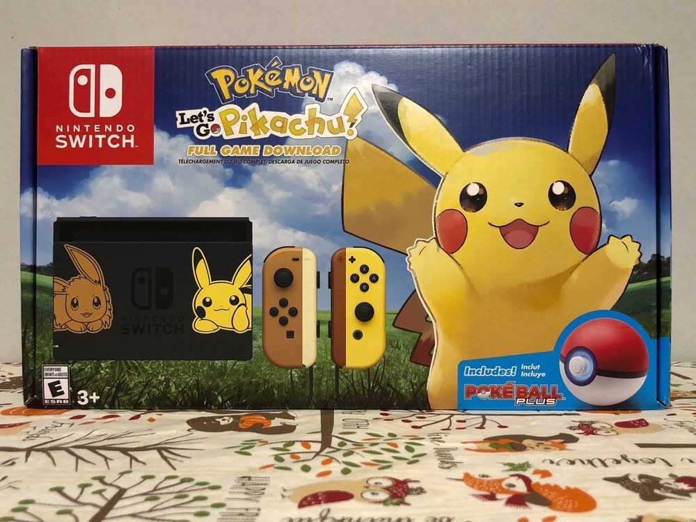 Details About Nintendo Switch Pokemon Let S Go Pikachu Eevee