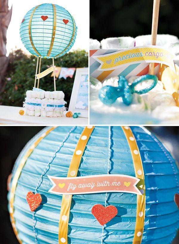 Hot Air Balloon Diaper Cake Tutorial Free Printables Party