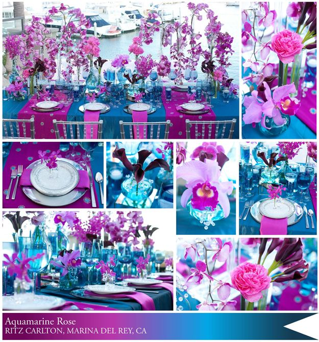 Turquoise Fuchsia Wedding: Aqua Blue And Fuschia Weddings