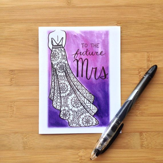 Bridal Shower Card To The Future Mrs. by PaisleyandHazel on Etsy