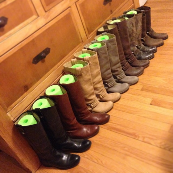 42 Brilliant Ideas To Make Your Home Really Freaking Organized Dollar Store Organizing Boot Tree Store Organization
