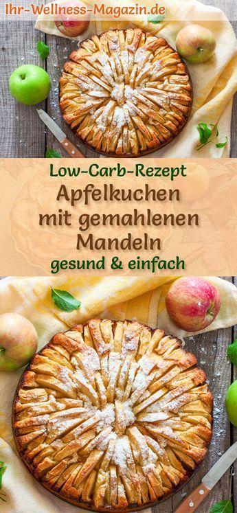 Low-Carb-Apfelkuchen mit gemahlenen Mandeln – Rezept ohne Zucker