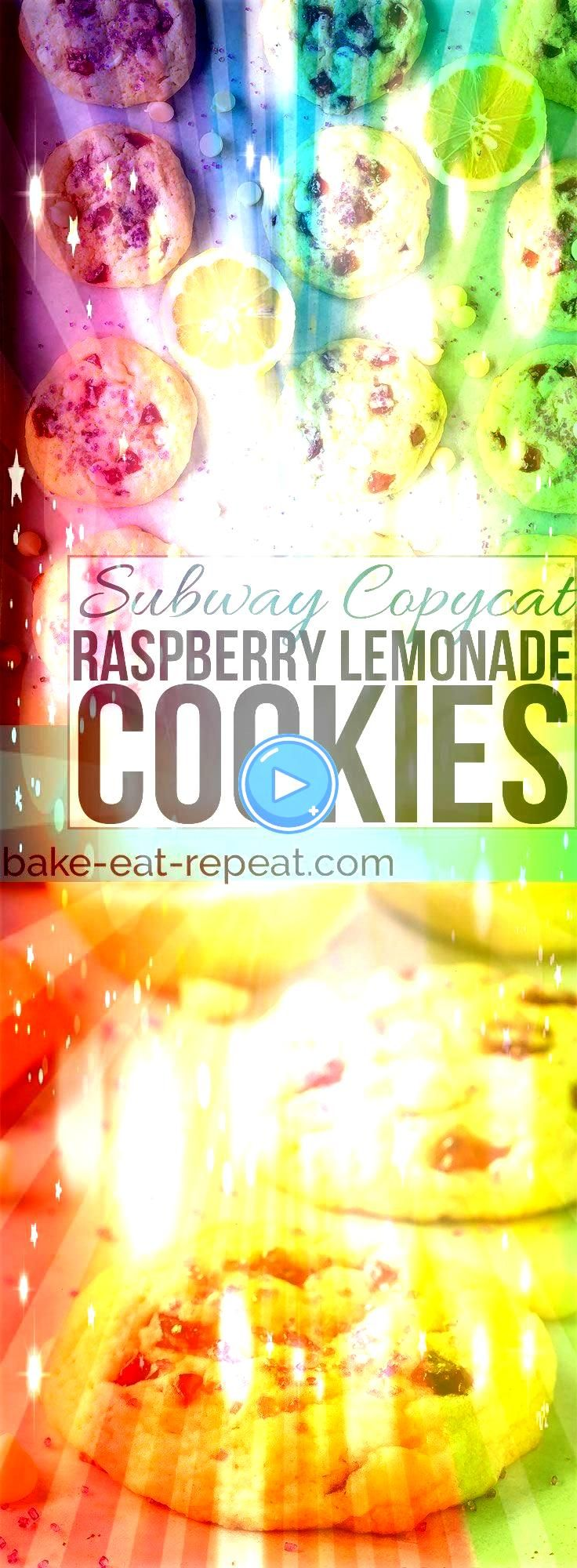 Cookies Subway Copycat These raspberry lemonade cookies are just like the ones from Subway Soft chewy and filled with raspberry and lemon flavours  everyone loves themRas...