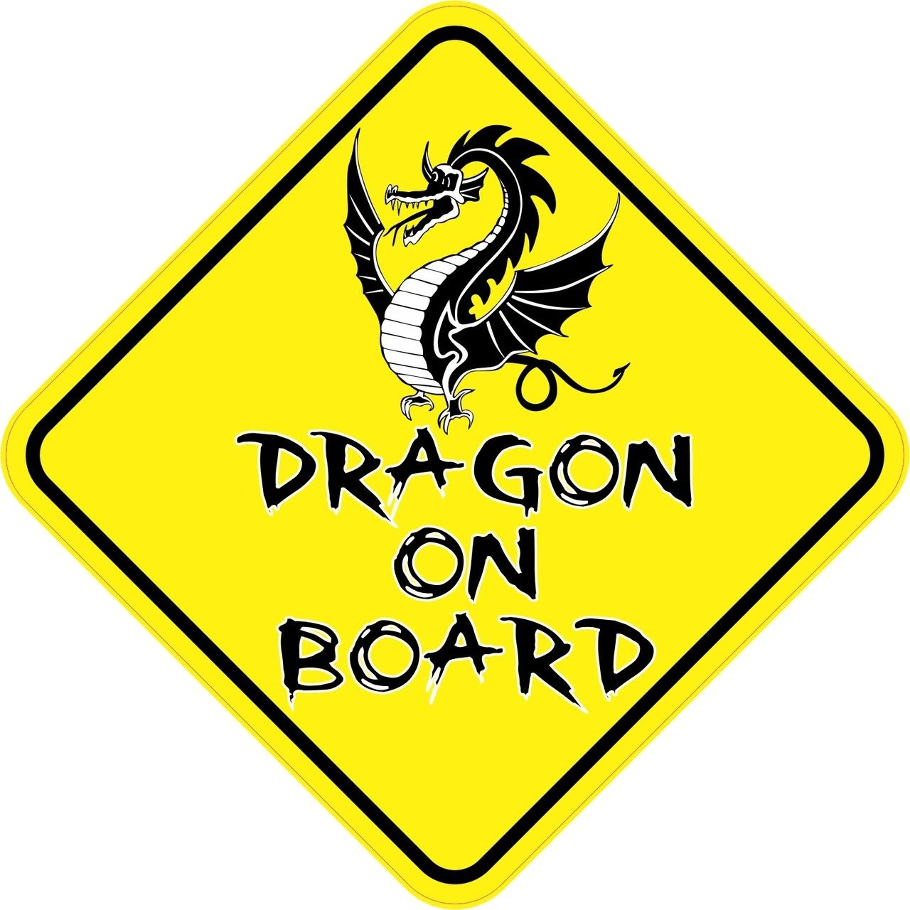 5in x 5in Dragon On Board Sticker (With images) Bumper