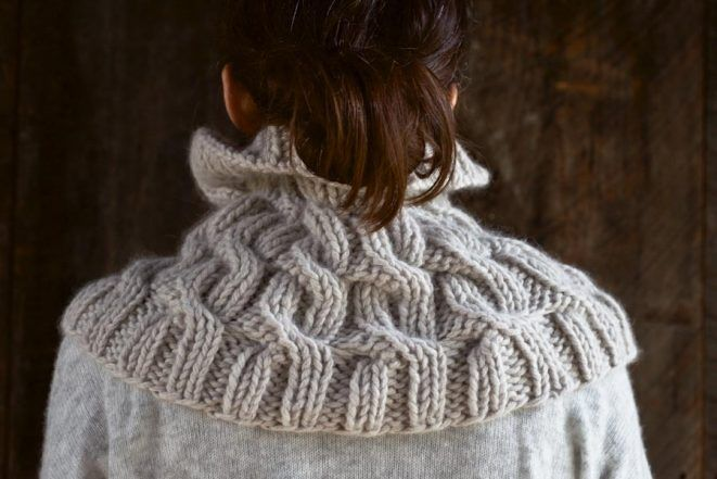Cozy Cable Cowl | Purl Soho | Cowl knitting pattern ...