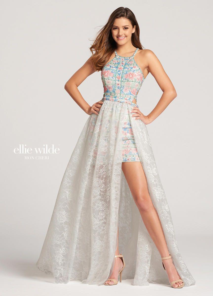 Mon cheri ellie wilde ew cocktail dress with long overskirt