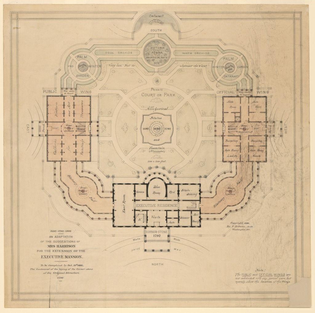 Fascinating Unbuilt Expansion Of The White House 1892 Ghosts Of Dc White House Washington Dc European Castles White House
