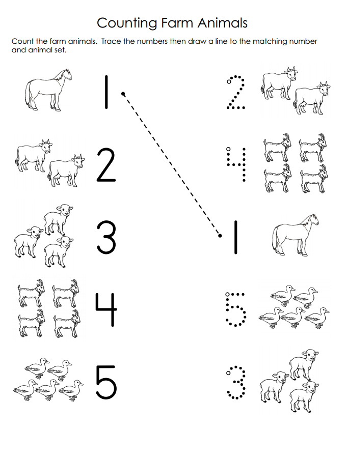 Free Printable Animal Worksheet For Kids Crafts And Worksheets For Preschool Toddler And In 2020 Farm Animals Preschool Preschool Counting Worksheets Farm Preschool