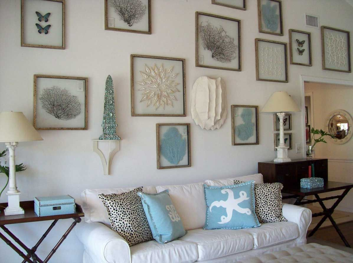 Awesome Beach House Wall Decor With White Wall Paint Color