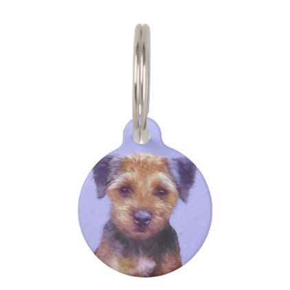 Border terrier pet id tag pettag pettags dogtag dogtags puppy shop border terrier pet id tag created by alpendesigns sciox Choice Image