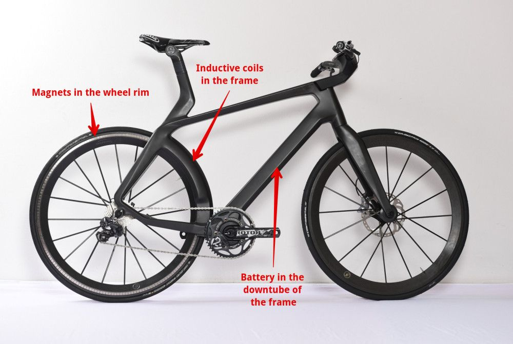 Lightweight Velocite Maglev Hidden Motor Electric Bike Bicycle