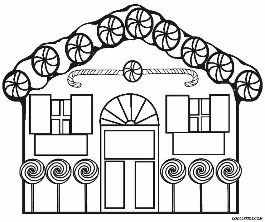 image regarding Printable Gingerbread House Coloring Pages called Printable Gingerbread Dwelling Coloring Webpages For Young children