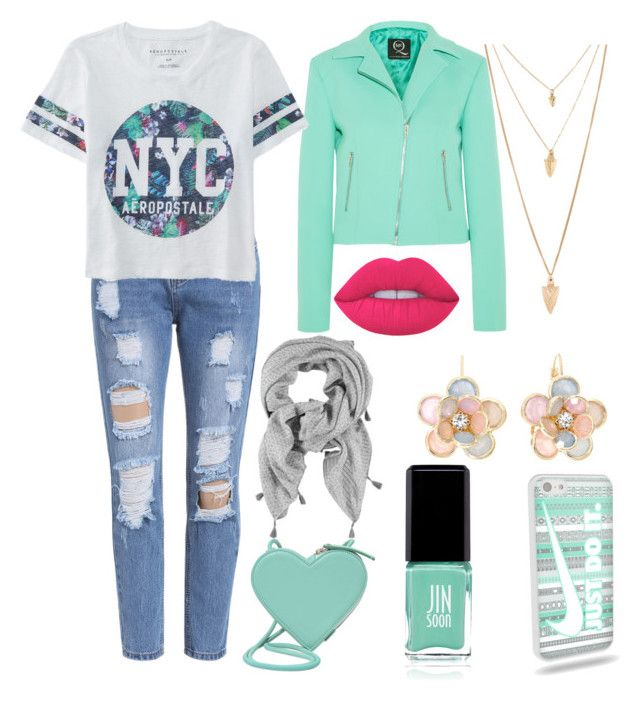 """Mint miracles"" by helloalexisboo on Polyvore featuring McQ by Alexander McQueen, Aéropostale, Christopher Kane, Lime Crime, Mixit, Forever 21 and Jin Soon"