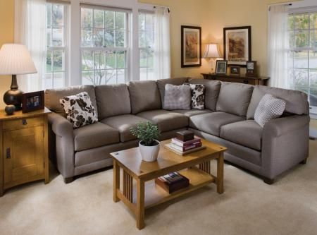 Sectional In A Nubby Oatmeal And White Furniture Living Room Redo Family Room Remodel New corinthian inc living room