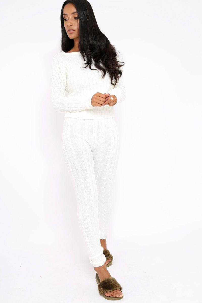 Cream Cable Knit Loungewear Set - Anha  06c3f9f6e