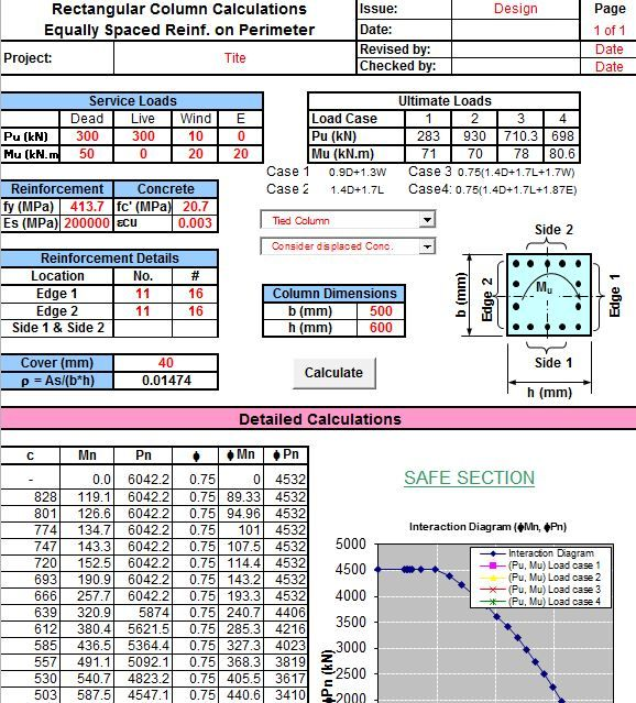 """RECTBEAM"" is a excel-based construction program that can be used for creating analysis and design for rectangular beam or column sections."