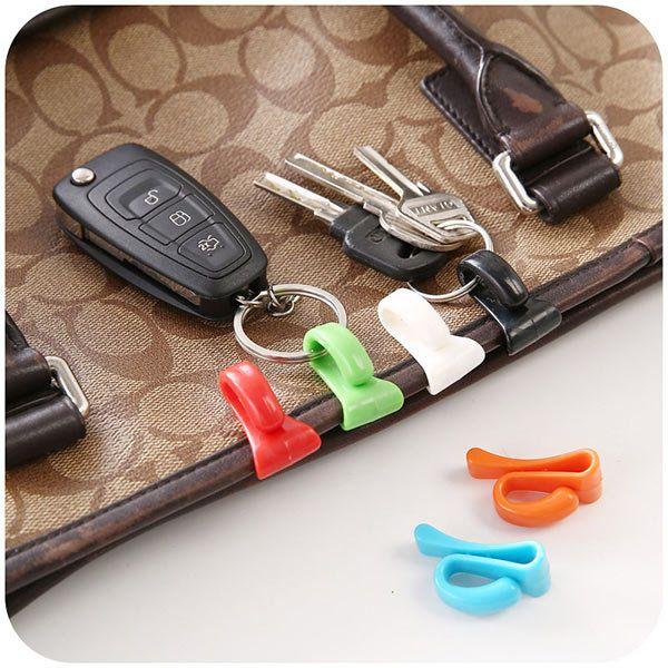 Honana HN-CH006 2pcs Creative Anti Lost Key Hooks Key Inside Holders Colorful Key Clips