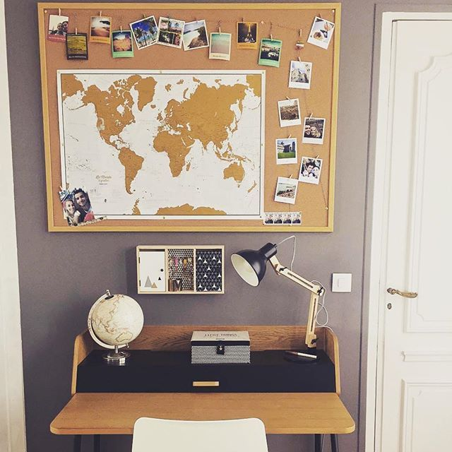 What a great place to work dream create ☺ cheerz decoration office desk work cool place world travel dream escape love happy photo our home decor