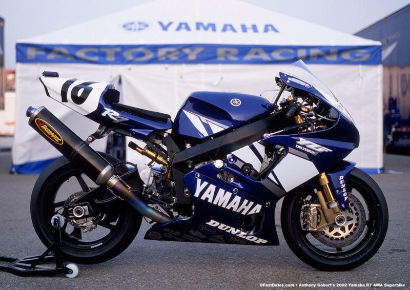Factory Yamaha R7 Race Bike  Aaron Gobert