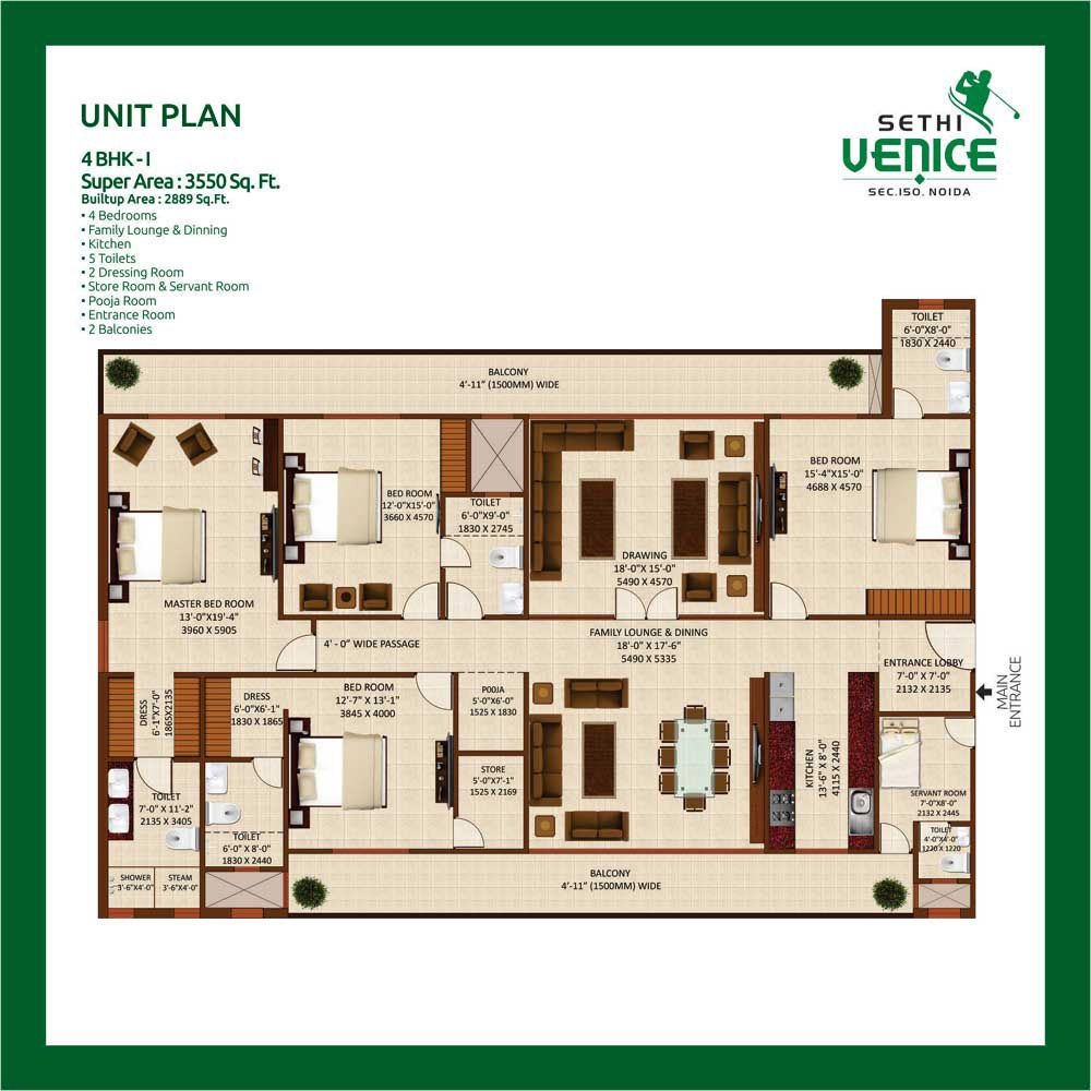 Sethi Venice Noida Expressway 3 4 Bhk Apartments In Sector 150