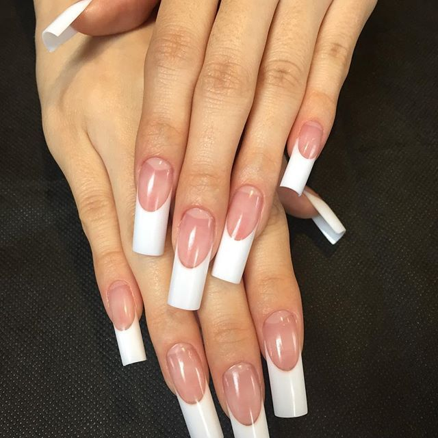 Long french manicure | 8. Double Team + Dynamicpunch Fantastic ...