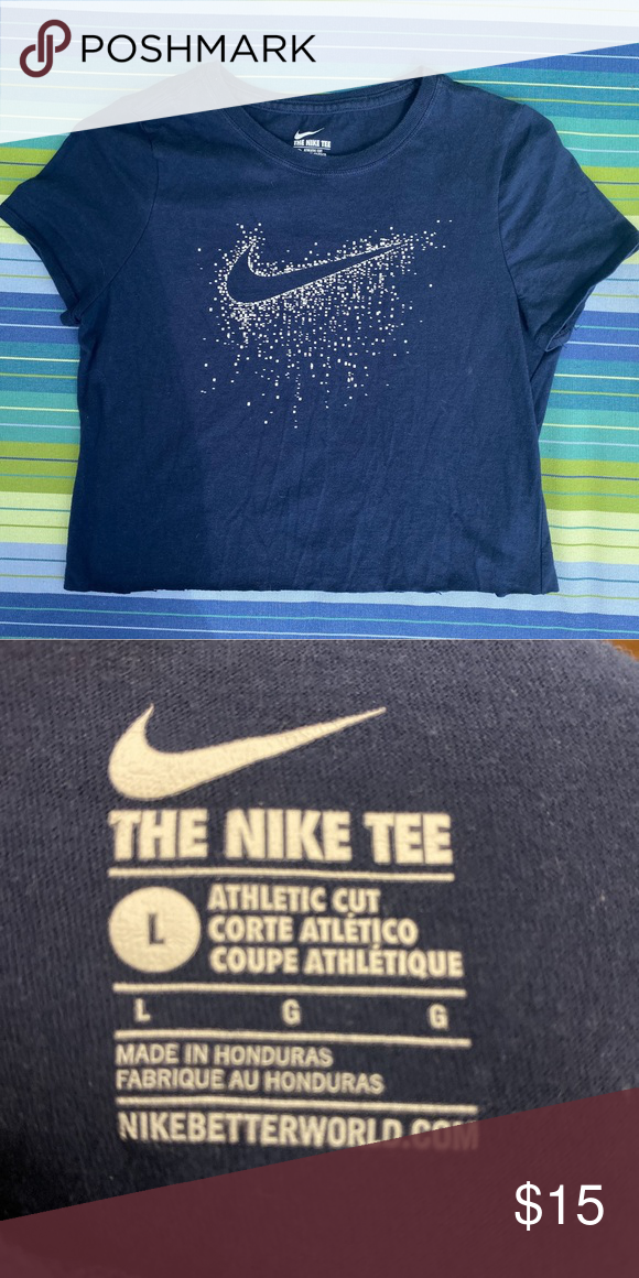 Nike Baby Tshirt Baby Blue White In New Condition Measures 15 Pit To Pit And 16 Top To Bottom Classic Check Mark Nike Baby Tshirts Nike Crop Top Nike