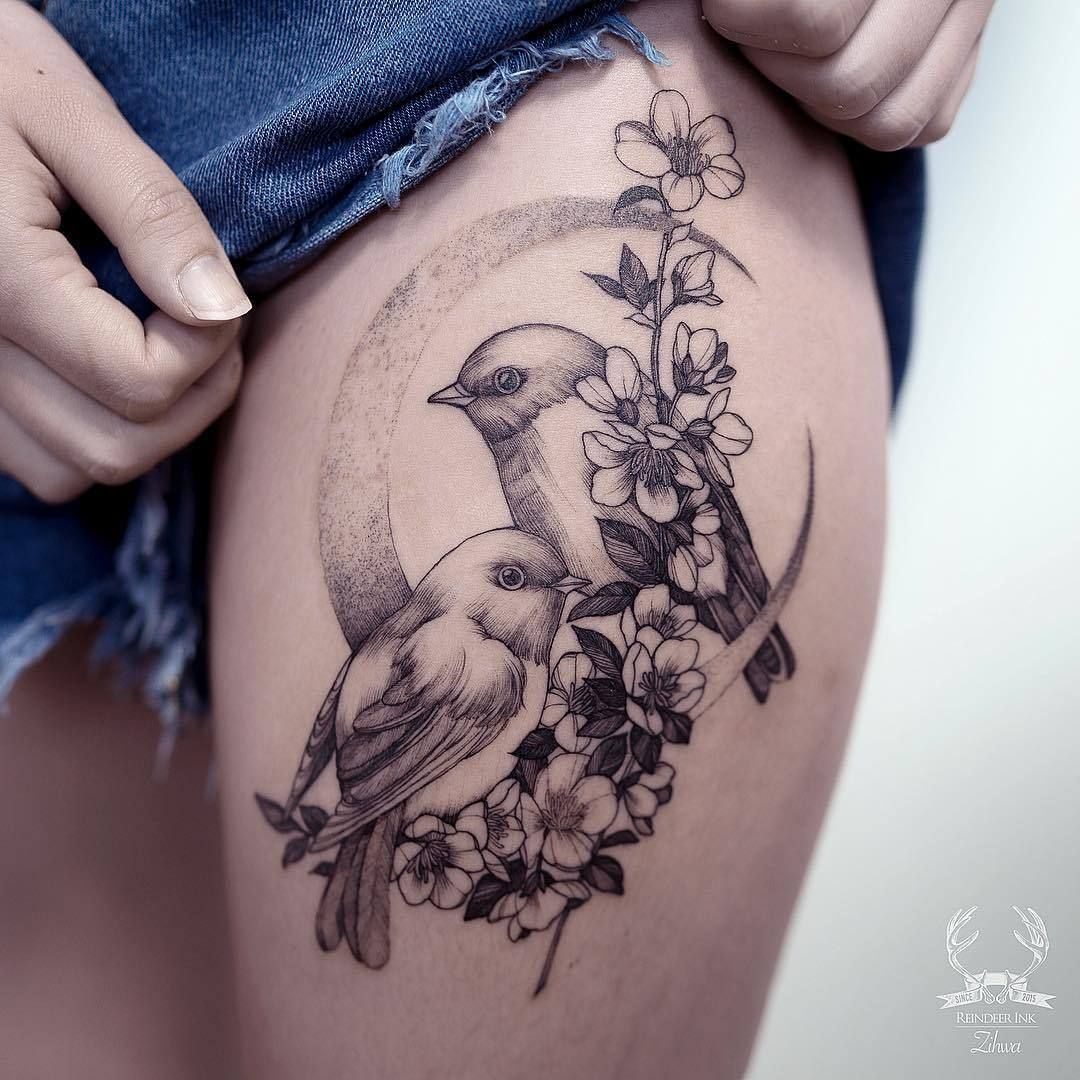 Zihwa Tattooer Feather Tattoos Bird Tattoos For Women Birds Tattoo