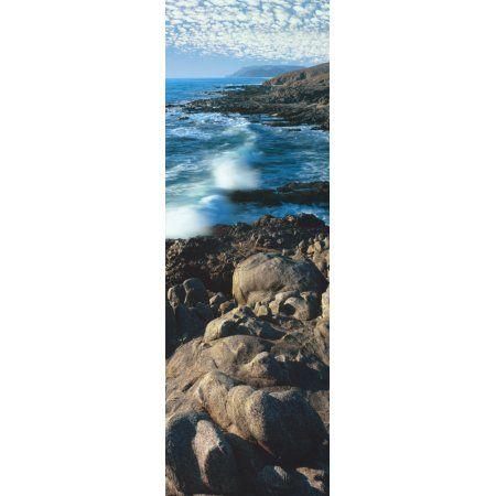 High angle view of rocks on the coast Cerritos Beach Todos Santos Baja California Sur Mexico Canvas Art - Panoramic Images (36 x 12)
