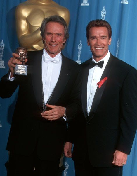 Clint Eastwood And Arnold Schwarzenegger At The Academy Awards In