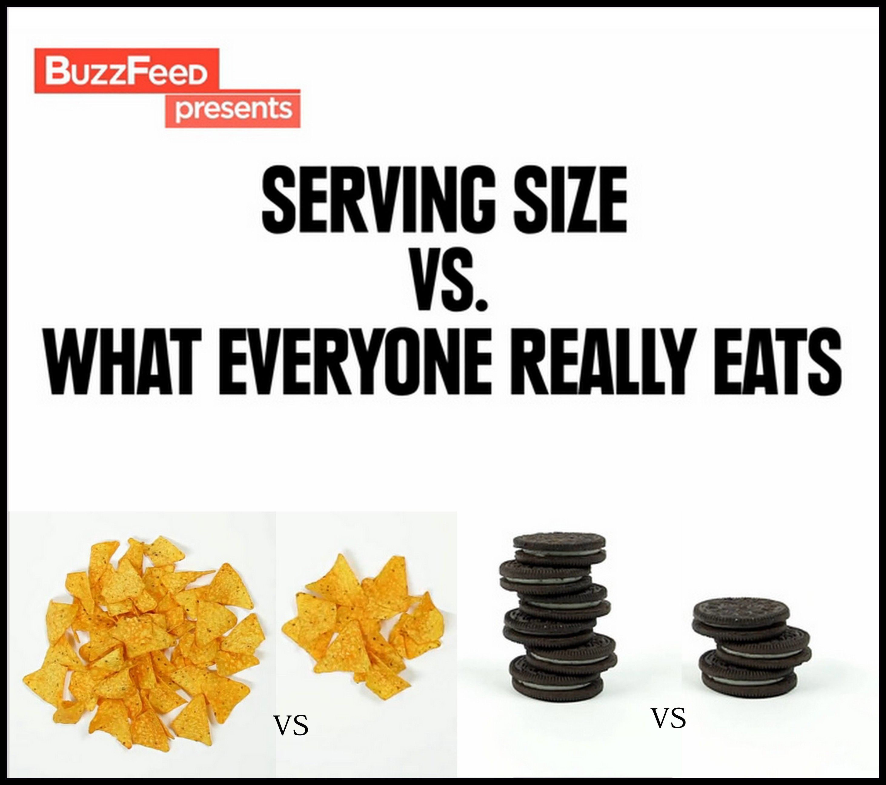 Serving Sizes Are Not Ridiculous They Are Meant To Be A Guide To Help Control Food Portions The Intake Of Certain Nutrients And Keep Track Of Calories
