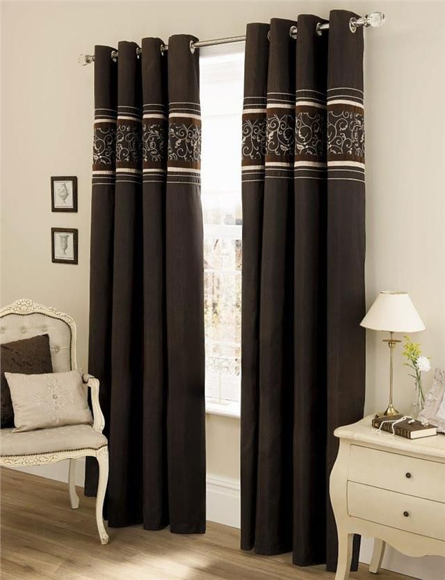 BRAND NEW LUXURY FAUX SILK EYELET CURTAINS
