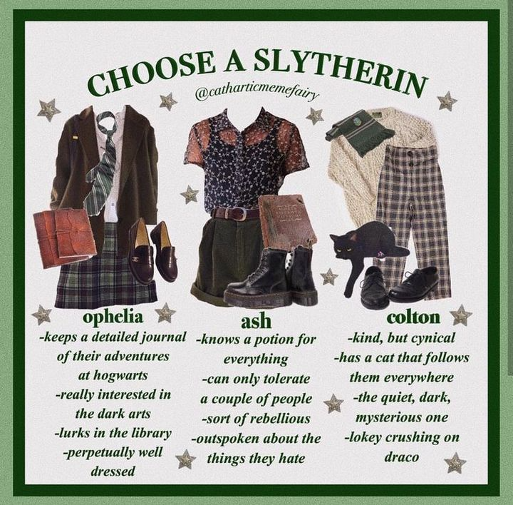 Lustige Harry Potter Bilder In 2021 Hogwarts Outfits Slytherin Fashion Harry Potter Outfits