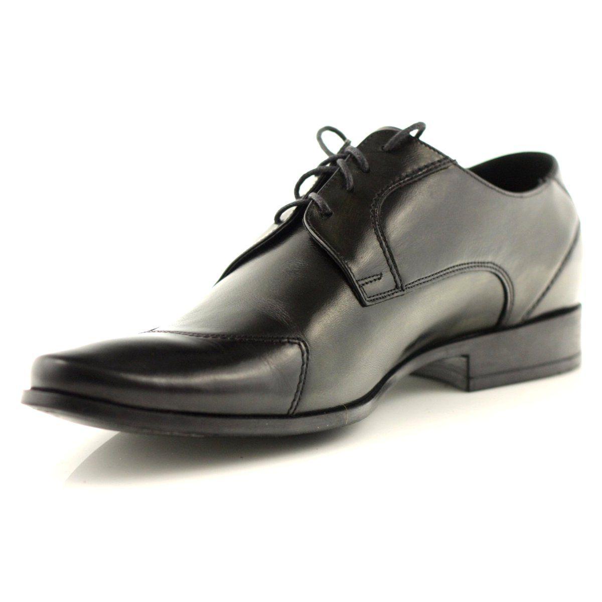 Polbuty Meskie Pilpol Polbuty Meskie Pilpol 1193 Czarne Dress Shoes Men Dress Shoes Oxford Shoes