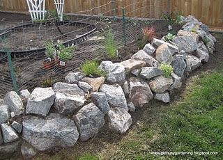 Plantable Rock Wall Raised Garden Bed