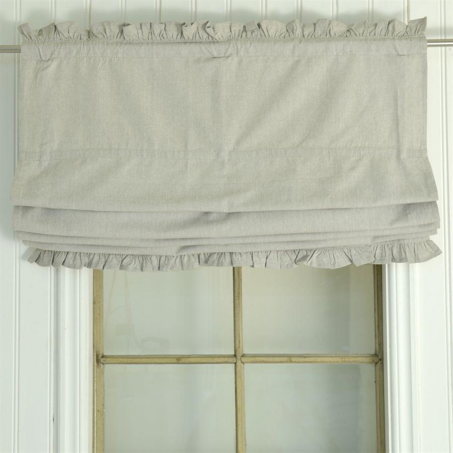 Raff Rollo Gardine Natur Shabby Chic Curtain Landhaus Gardinen