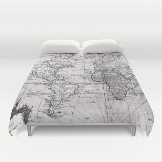 World map 1778 white black duvet cover by bravuramedia from world map 1778 white black duvet cover by bravuramedia from society6 saved gumiabroncs Images