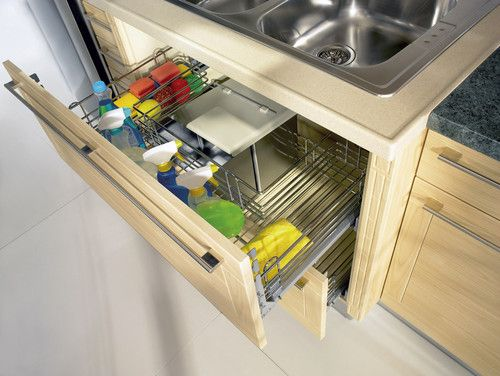 Modern Sink Cupboard Organizing Cleaning Supplies Has Never Been