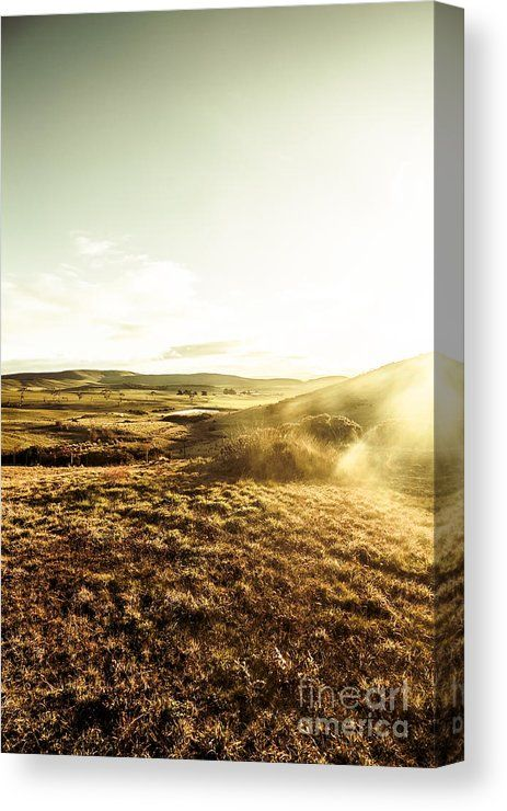 Meadow Canvas Print featuring the photograph Mountain Views And Misty Sunlight by Ryan Jorgensen