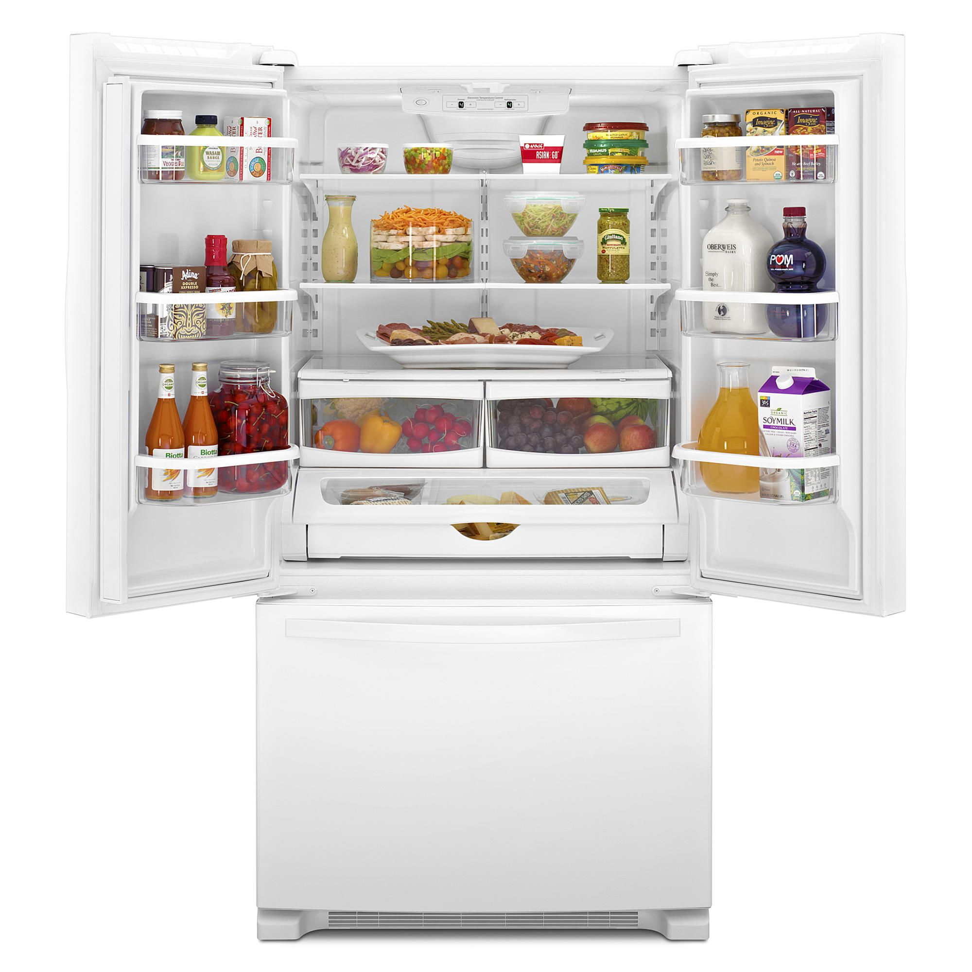 Whirlpool Wrf535smbw 25 Cu Ft French Door Refrigerator White