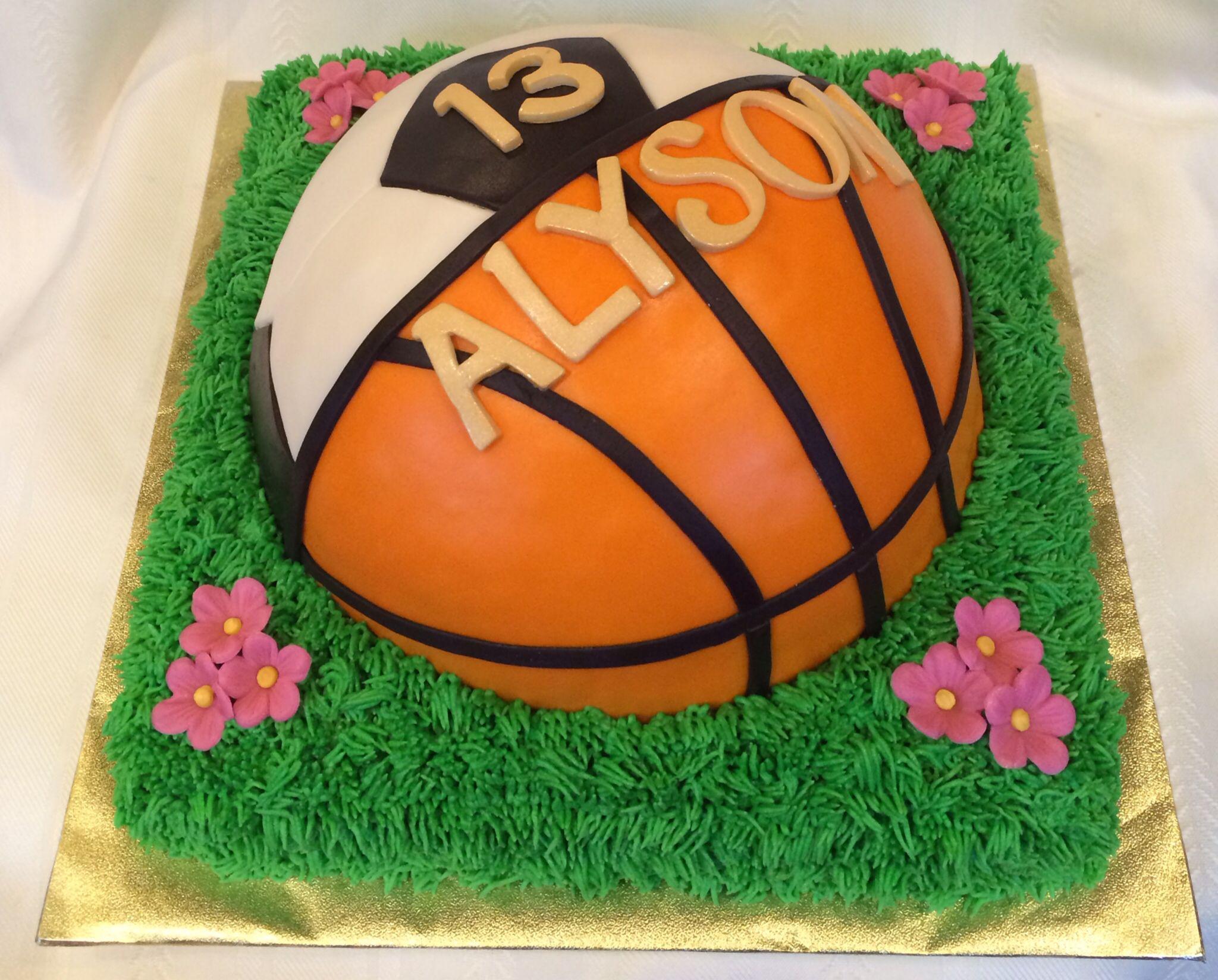 Basketball Soccer Cake Birthday Cake Girls Girl Cupcakes Sports Themed Cakes