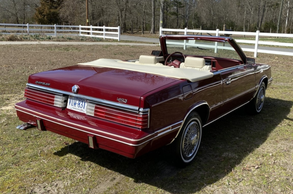 No Reserve 1984 Chrysler Lebaron Turbo Convertible